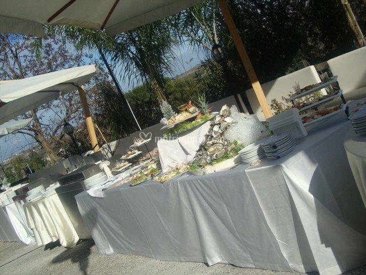 Buffet sulla terrazza
