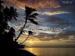 Fiji tramonto
