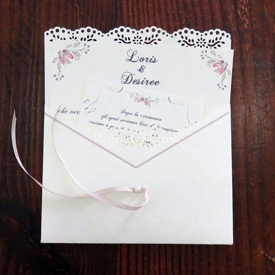 Partecipazioni nozze romantic
