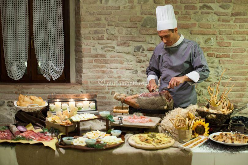 Buffet Rustico Matrimonio : A tipico catering