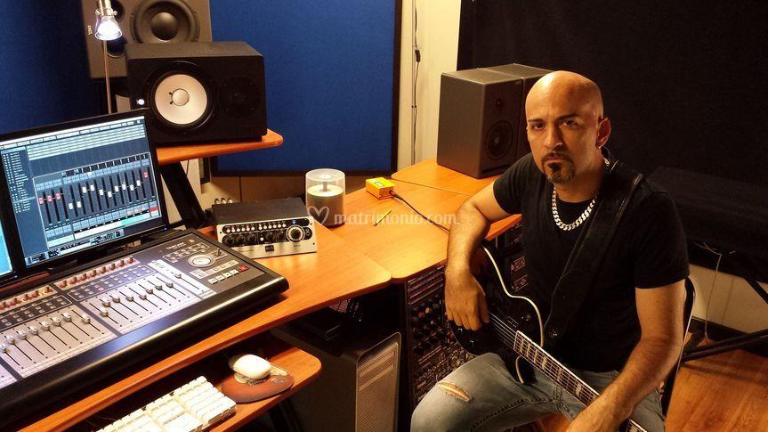 Alex in studio