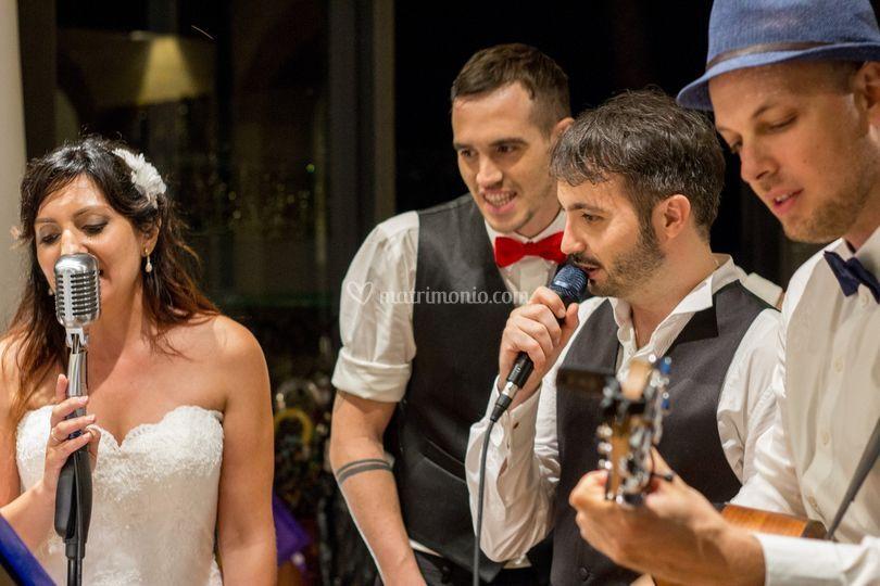 Live con sposi Sara, Francesco