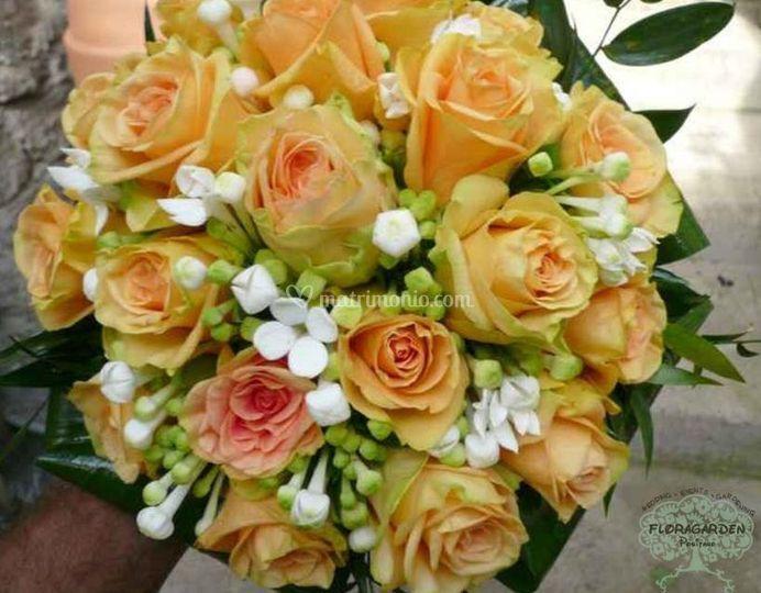 Bouquet rose arancioni