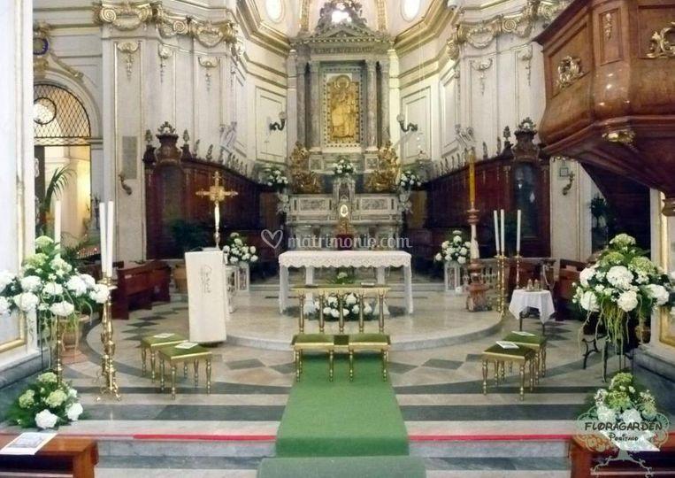 Addobbo chiesa verde