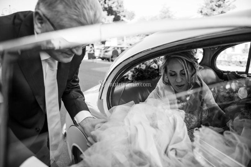 Arrivo sposa in chiesa