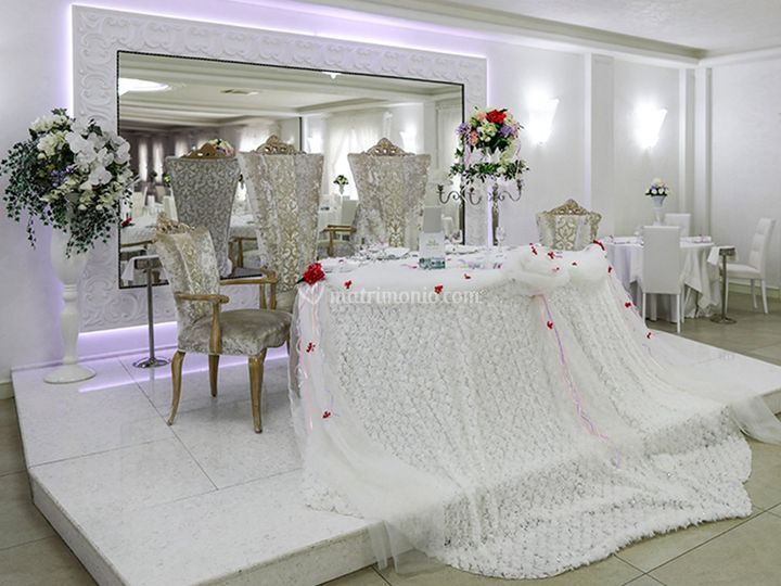 Tavolo d'onore sala lucilio