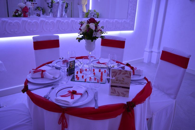 Mise en place weeding red