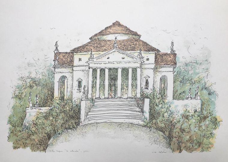 Villa la Rotonda Litografia
