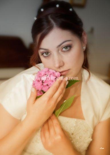 Ritratto con fiore