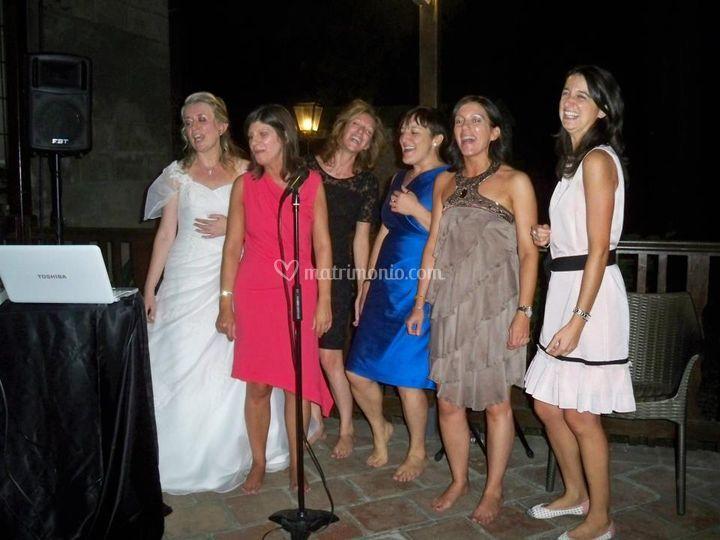 Karaoke Sposa e amiche