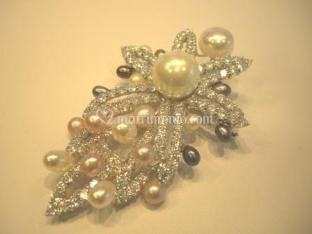 Ciondolo argento e perle