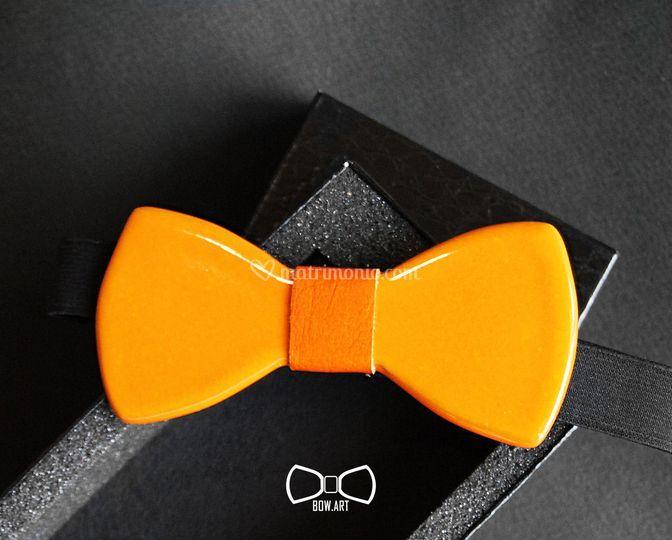 Papillon ceramica arancio
