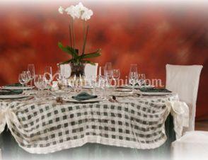 Allestimento dei tavoli
