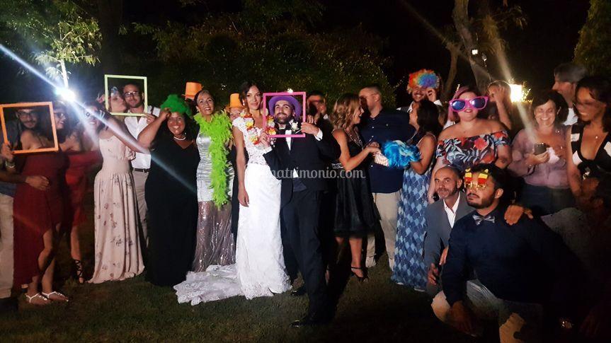 Photobooth con gli sposi