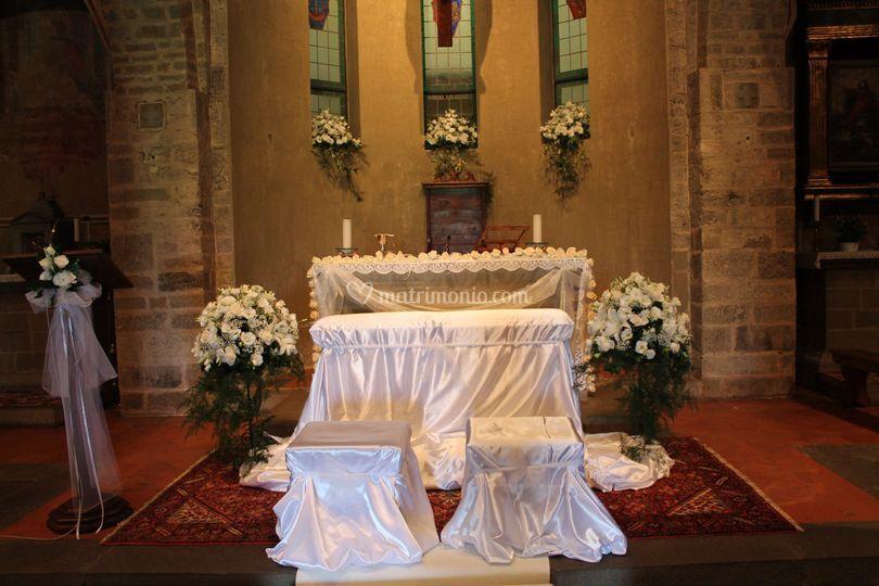 Allestimento chiesa Sammontana