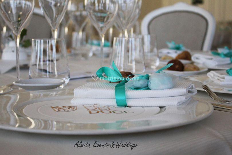 G&C wedding Mise en place
