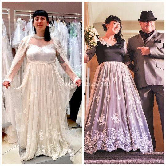 Sposa-indossa l'abito di Mamma