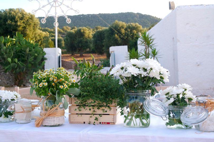 Centrotavola Matrimonio Stile Rustico : Flower addicted