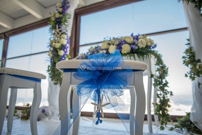 Dettaglio sedute sposi