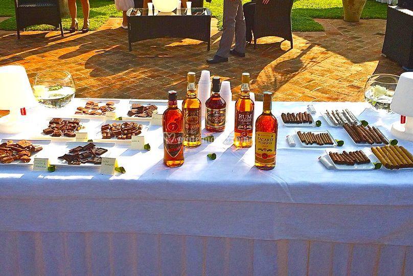 Angolo sigari rum e cioccolato