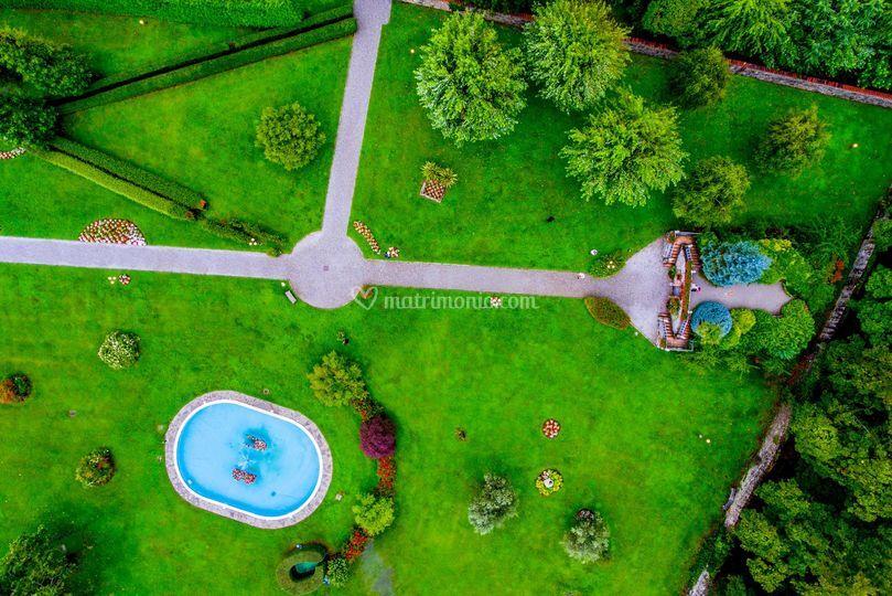 Antico Borgo visto dal drone
