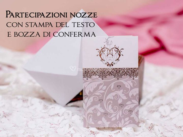 Partecipazione nozze con stamp