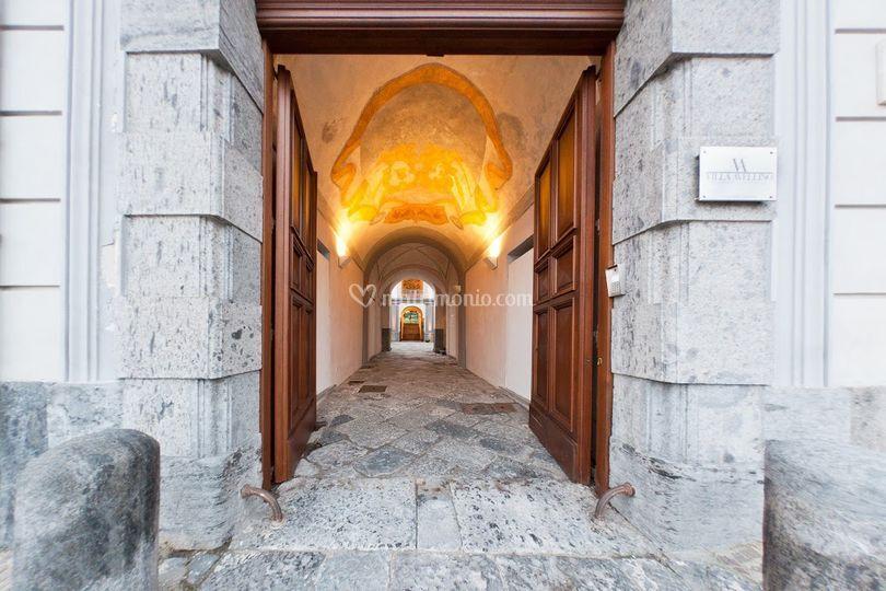 Ingresso della Villa Avellino