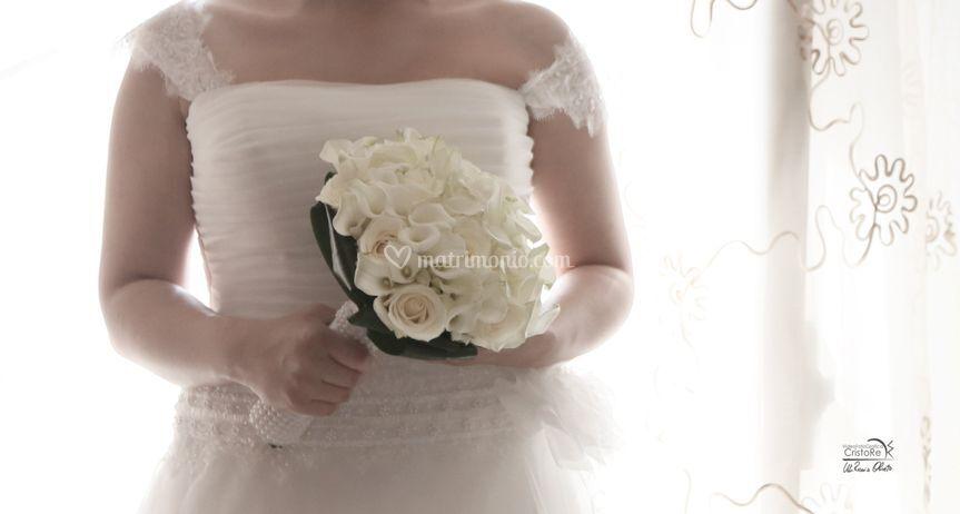 Bouquet di calle e Rose Avalan