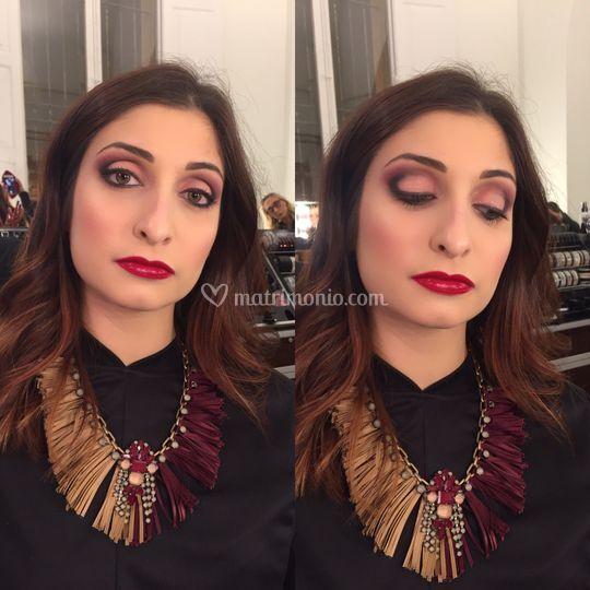 Classic lift makeup