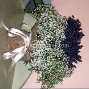 Centrotavola lavanda e gisophila