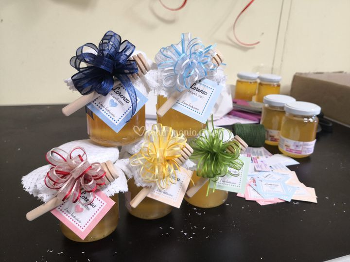 Bomboniere miele - battesimo