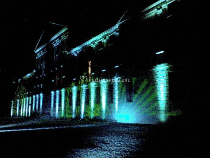 Giochi di luce sulla villa