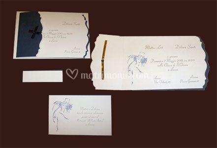 Nozze stil - Nuovo modello completo di partecipazione, invito, busta e stampa