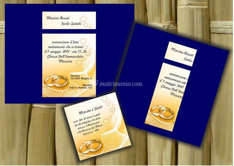 Partecipazione Blue compresa di invito e stampa