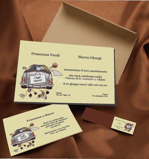 Partecipazione Cabriolet compresa di invito e stampa