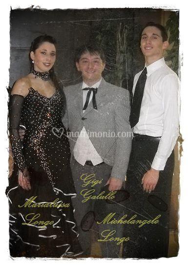 Gigi con i fratelli Longo