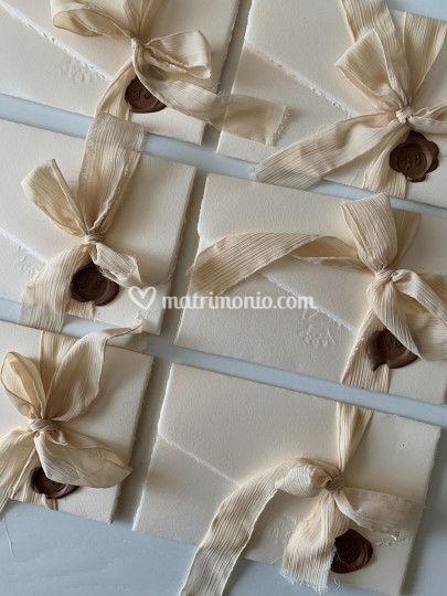 Partecipazioni carta cotone