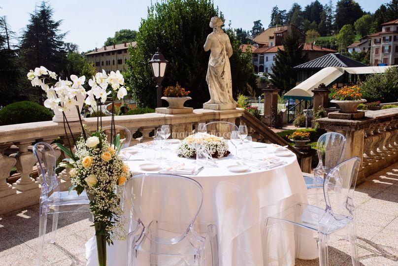 Tavolo Sposi all'aperto