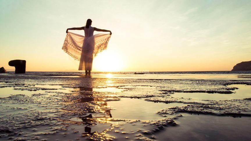 Sposa al tramonto
