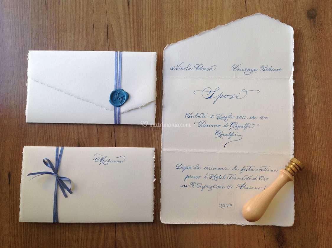 Partecipazioni Matrimonio Carta Amalfi.Carta Di Amalfi E Calligrafia Di Amelie Foto 9