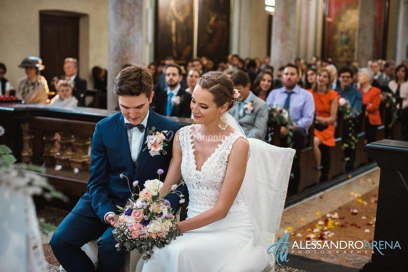 Sposi sull'altare