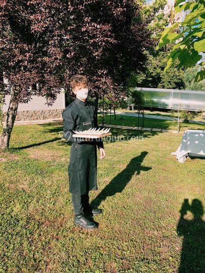 Giro braccio in giardino