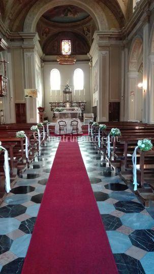 Allestimento chiesa bianco