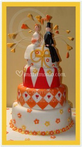 Torta nuziale arancione