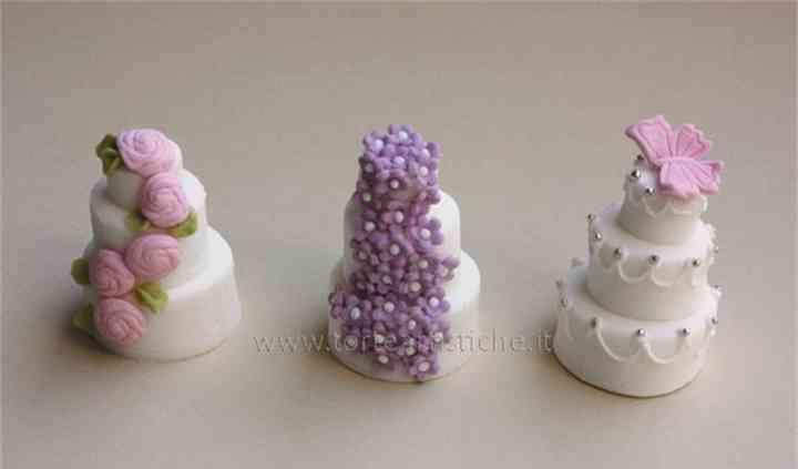 Mini wedding cakes segnaposto