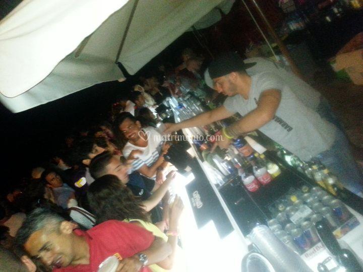 Barman atwork