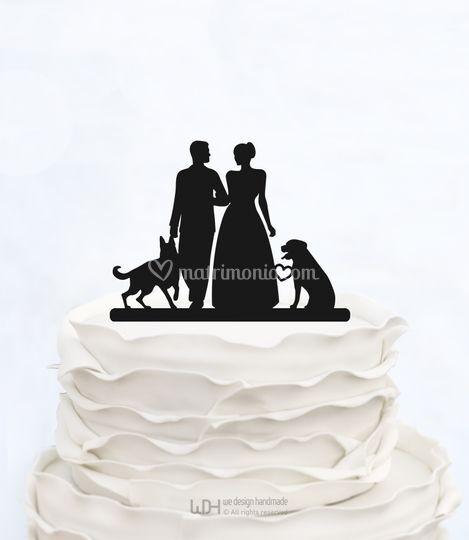 Cake topper con cani