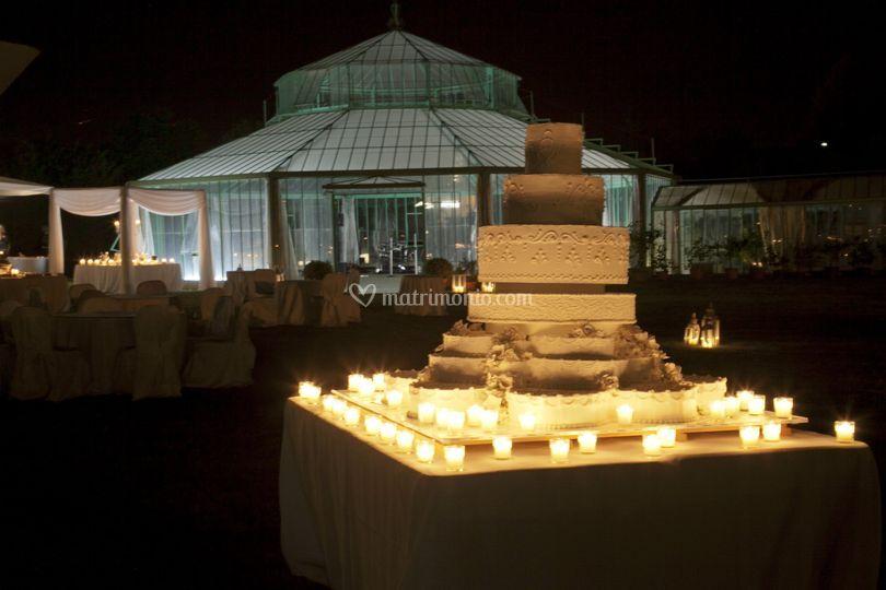 Giochi di luce all\'esterno di Villa Di Bagno   Foto 120