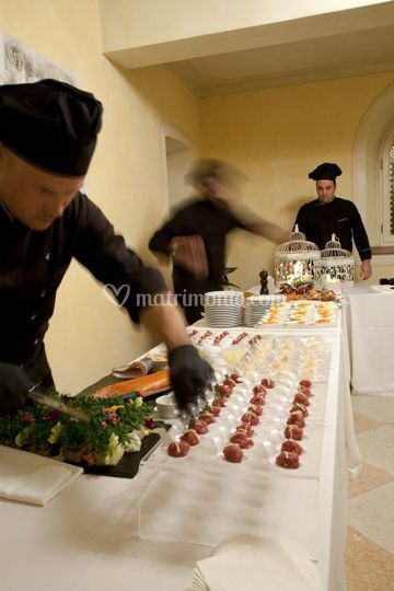 Preparazione buffet