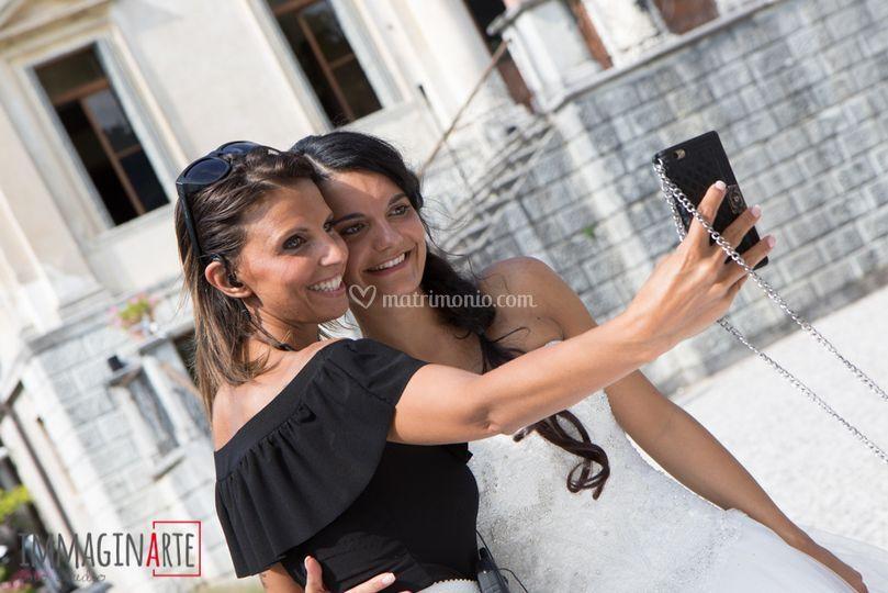 Cristina con la sposa